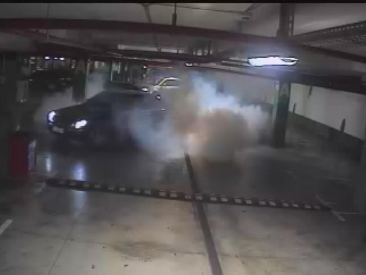 """Резултат с изображение за """"Хванаха мъж, дрифтирал с автомобил в подземния паркинг на голям мол в Бургас"""""""""""